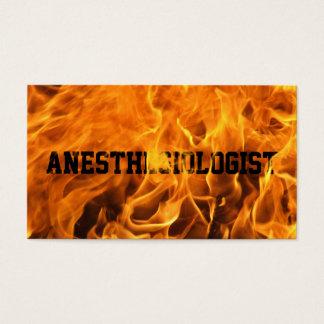 非常に熱い火の麻酔医の名刺 名刺