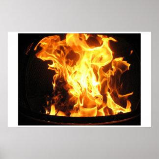 非常に熱い火 ポスター