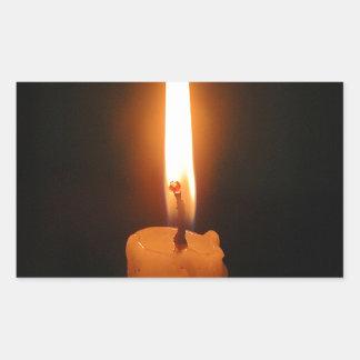 非常に熱い蝋燭 長方形シール
