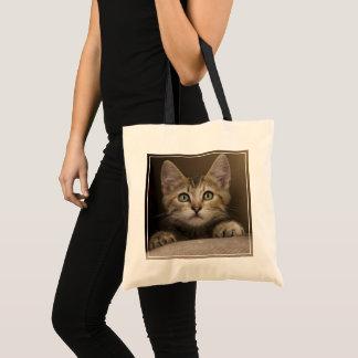 非常に甘い虎猫の子ネコ トートバッグ