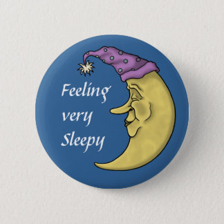 非常に眠い氏の月ボタン 5.7CM 丸型バッジ