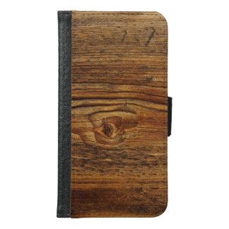 非常に素晴らしい木製のデザイン GALAXY S6 ウォレットケース