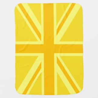 非常に英国国旗黄色いイギリスの旗 ベビー ブランケット