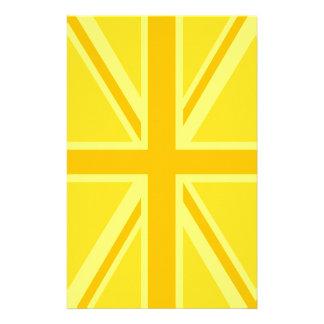 非常に英国国旗黄色いイギリスの旗 便箋