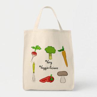 非常に野菜の野菜のブロッコリーのラディッシュのにんじんの芸術 トートバッグ