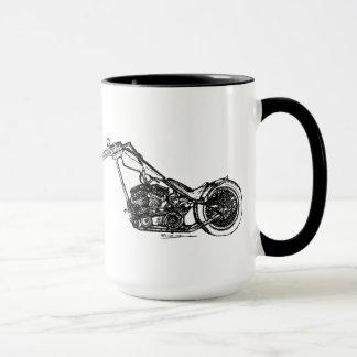 非常に長いチョッパーのオートバイのマグ マグカップ