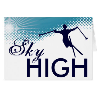 非常に高いスキー カード