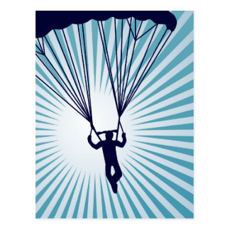 非常に高いskydiver ポストカード