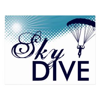 非常に高いskydiving ポストカード