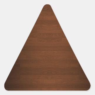 非常に|暗い|懸命|木|床|穀物 三角形シール・ステッカー