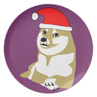非常の総督のwowミームのクリスマス多くのそのような帽子サンタ プレート
