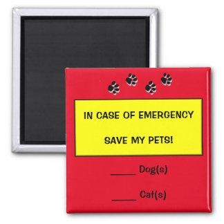 非常時には保存ペット救助の磁石 マグネット