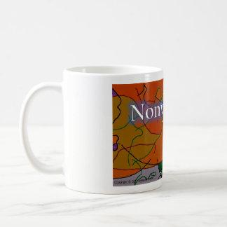 非暴力はコーヒー・マグの抽象デザインを揺すります コーヒーマグカップ