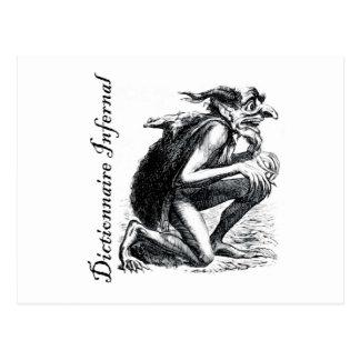非道辞書-神経質なビットを見ている小鬼 ポストカード