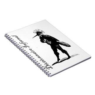 非道辞書-鳥のスーツの鬼か人 ノートブック