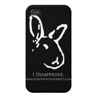 非難のウサギの黒いiPhoneの箱 iPhone 4 Cover