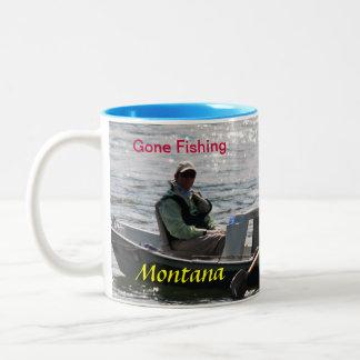 非13 #Boatsラップアラウンドの採取Mug.#13Montana ツートーンマグカップ