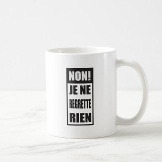 非! Je neのregretteはrien コーヒーマグカップ