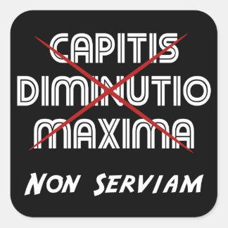 非capitisのdiminutioの最高serviam スクエアシール