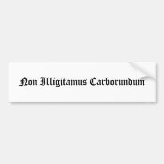 非Illigitamusのカーボランダム バンパーステッカー