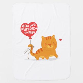 面白いしゃれ愛ユーモアのかわいい子猫猫の漫画 ベビー ブランケット