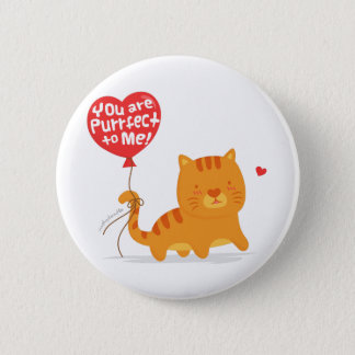 面白いしゃれ愛ユーモアのかわいい子猫猫の漫画 缶バッジ