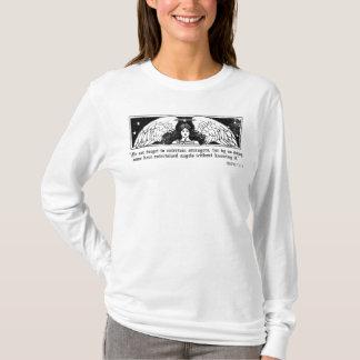 面白い天使のヘブライ13女性LS Tシャツ