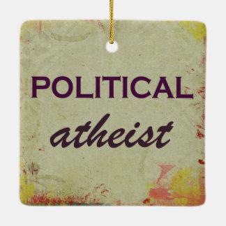 面白い政治無神論的なオーナメント セラミックオーナメント