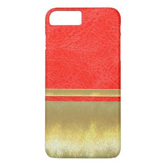 革および金ゴールドはiPhone 7のプラスの場合を設計します iPhone 8 Plus/7 Plusケース