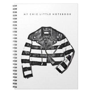 革のジャケットのファッションの絵のノート ノートブック