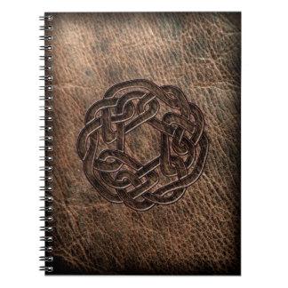 革の円形のケルト結び目模様 ノートブック