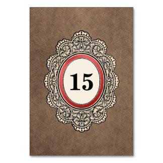 革スタイルの縦の結婚式 カード