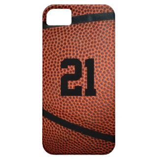 革バスケットボールの電話箱 iPhone SE/5/5s ケース