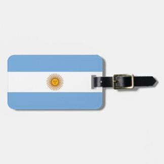 革バンドが付いているアルゼンチンの荷物のラベルの旗 ラゲッジタグ
