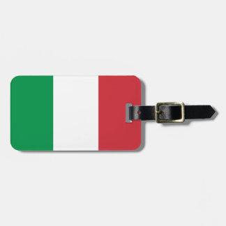 革バンドが付いているイタリアの荷物のラベルの旗 ラゲッジタグ