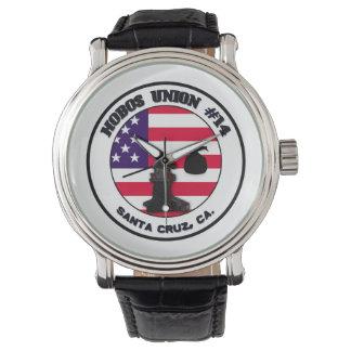 """革バンドが付いているルンペンのギアの""""ルンペン連合""""腕時計 腕時計"""