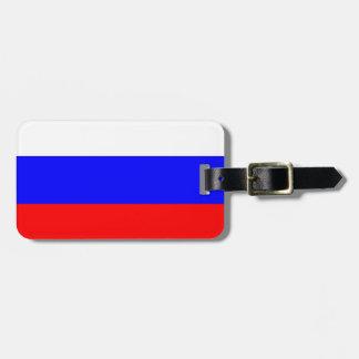 革バンドが付いているロシアの荷物のラベルの旗 ラゲッジタグ