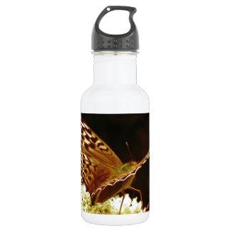 革ブラウン、タン及びチョコレートによって着色される蝶 ウォーターボトル