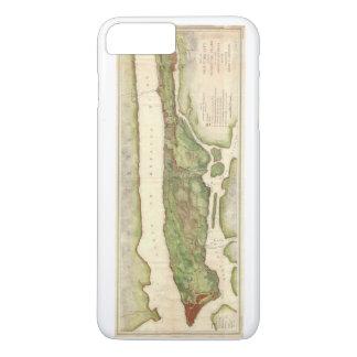 革命的な地図1878年の間のニューヨークシティの地図 iPhone 8 PLUS/7 PLUSケース