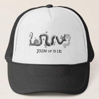 """革命的な愛国者のロゴ""""結合しますか、または死んで下さい"""" キャップ"""