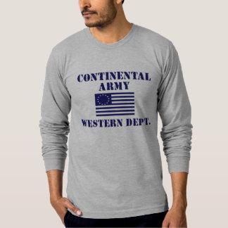 革命的な戦争の大陸軍隊のワイシャツ Tシャツ