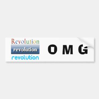 革命 バンパーステッカー