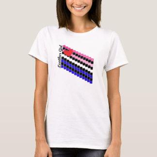革女の子の飛石 Tシャツ