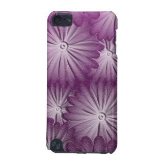 革紫色の花 iPod TOUCH 5G ケース