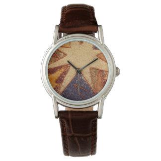 革腕時計の多彩イタリアンな花のデザイン 腕時計