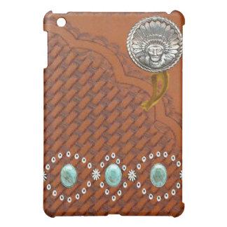 """革""""アパッシュ""""のターコイズの西部のIPadの場合 iPad Mini カバー"""