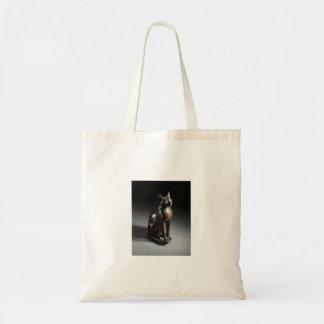 靭皮繊維(エジプト猫の女神) トートバッグ