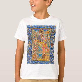 靭皮繊維(前部/明白な背部の芸術) Tシャツ
