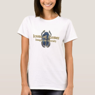 靭皮繊維(前部/芸術の背部のロゴ) Tシャツ