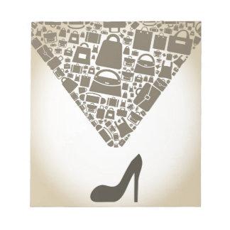 靴からのバッグ ノートパッド